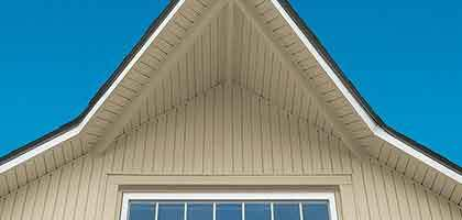 vinyl soffit and fascia on a home